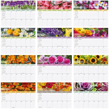 2019 A Year of Flowers Big Grid Planning Calendar