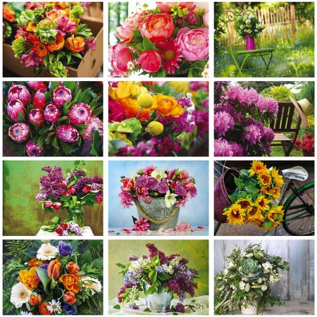 2019 A Year of Flowers Wall Calendar