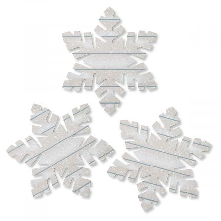 Giant Wooden Snowflake Ornaments
