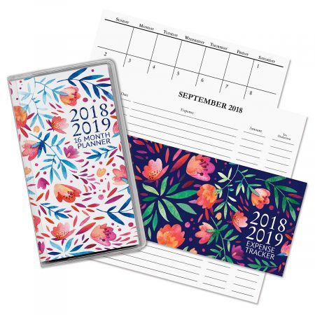 16-Month Pocket Planner/Expense Tracker Book
