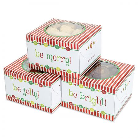 Foil Christmas Cookie Boxes