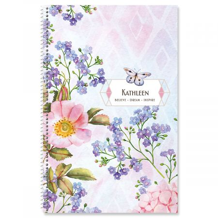 Butterfly Floral Personalized Planner