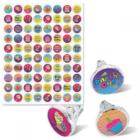 Birthday Chocolate Kiss Seals - BOGO