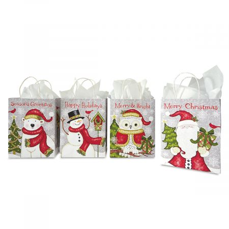 Rustic Holiday Kraft Gift Bags