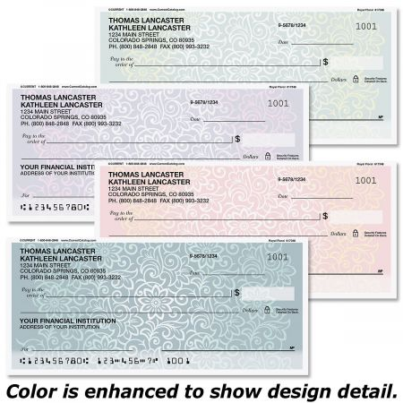 Royal Floral Personal Checks