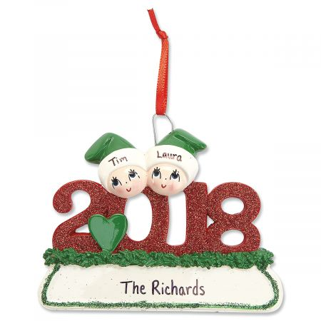 2018 Glitter Personalized Christmas Ornaments