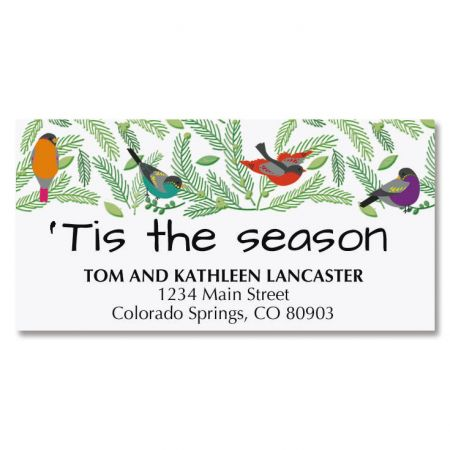 Birds in Tree Deluxe Address Labels