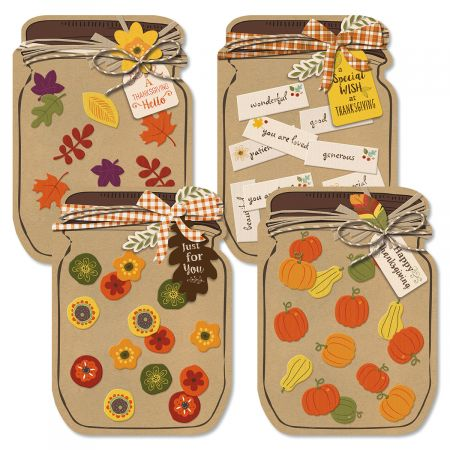 Diecut Jar of Thanks Cards