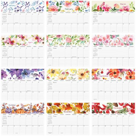 2019 Floral Art Big Grid 16 Month Planning Calendar Current Catalog