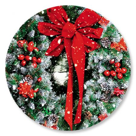 Wreath In Snow Seals