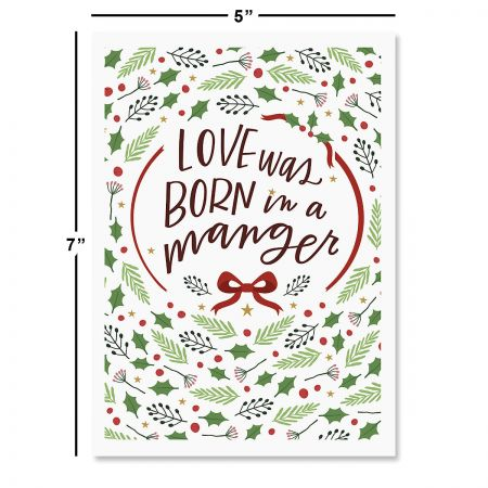 Love Was Born Religious Christmas Cards