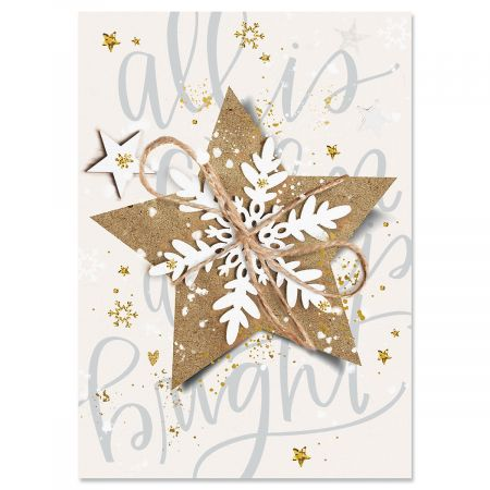Christmas Star Christmas Cards - Personalized