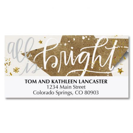 Christmas Star Deluxe Address Labels