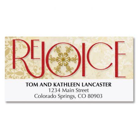 Rejoice Snowflake Deluxe Address Labels