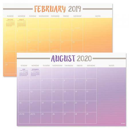 2019-2020 Color Block Calendar Pad