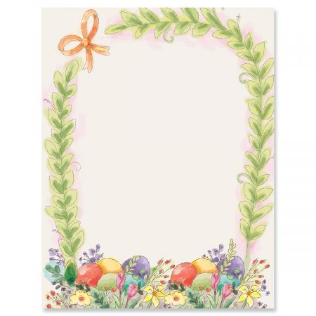Basket Border Easter Letter Papers