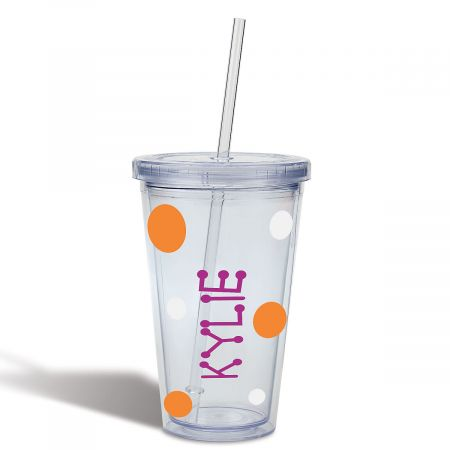 Halloween Acrylic Personalized Beverage Cups