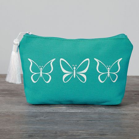 Butterfly Canvas Cosmetic Bag