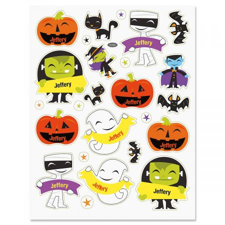 picture regarding Halloween Stickers Printable named Custom-made Halloween Stickers