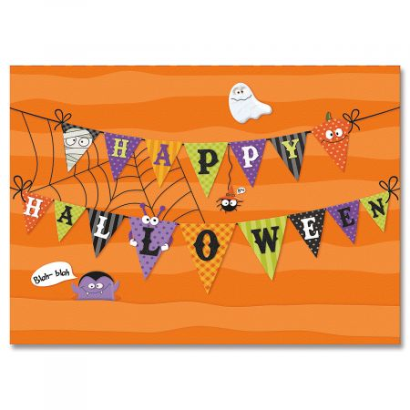 Banner Collage Halloween Cards