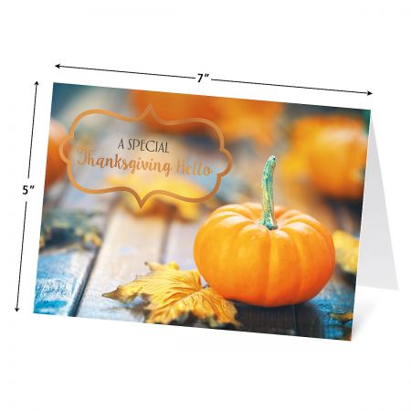 Deluxe Autumn Florals Thanksgiving Cards