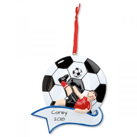 Soccer Boy Personalized Christmas Ornament