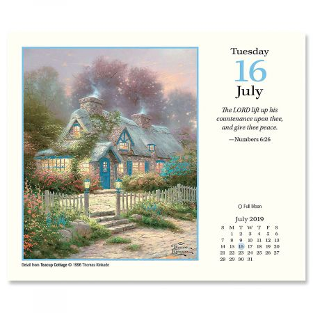2019 Painter Of Light Day To Day Calendar With Scripture By Thomas