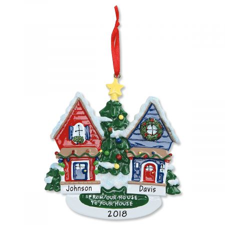 From Our House to Yours Personalized Christmas Ornament