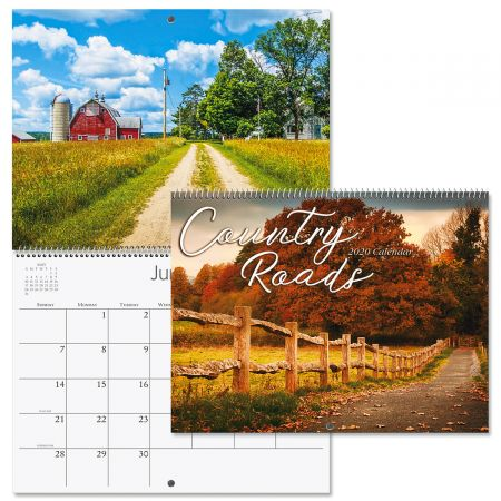 2020 Country Roads Wall Calendar
