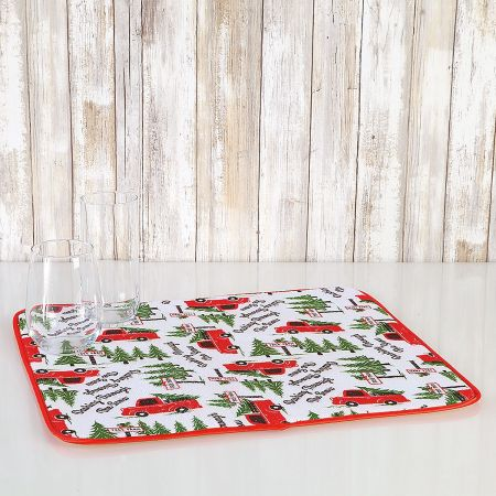 Christmas Microfiber Drying Mats