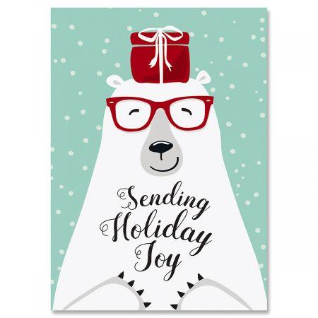 Polar Bear Joy Christmas Cards