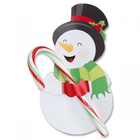 Diecut Snowman Paper Candy Cane Holders