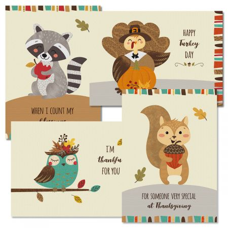 Woodland Thanksgiving Cards