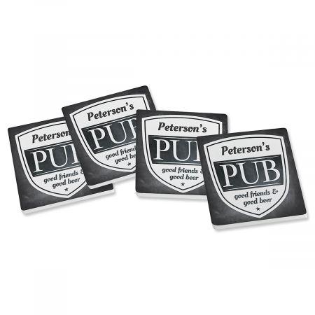 Pub Personalized Ceramic Coasters