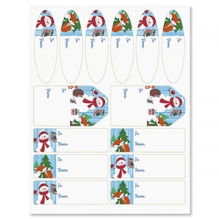 Forest Critters Christmas Gift Labels
