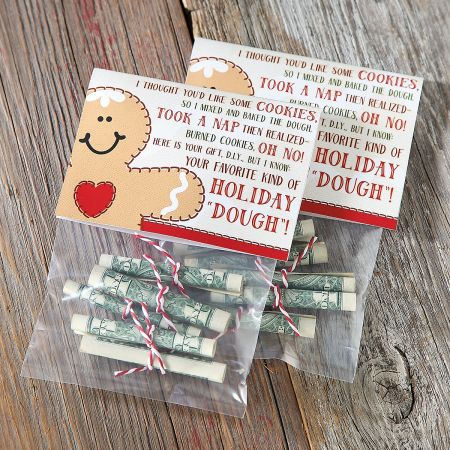 "Holiday ""Dough"" Treat Bags & Toppers - BOGO"
