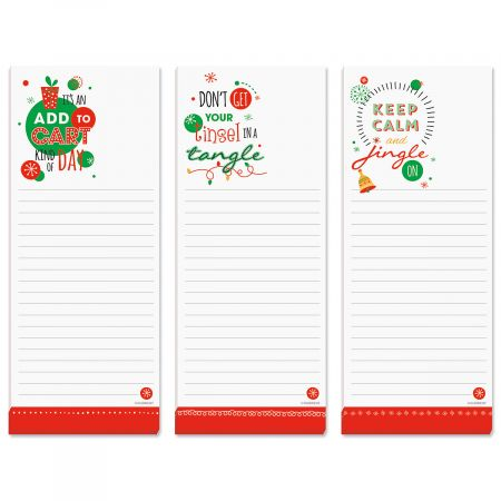 Christmas Sentiments Lined Shopping List Pads