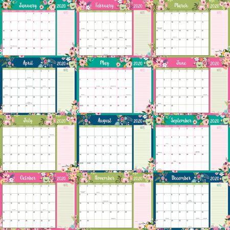 2019-2020 Floral Fantasy Calendar Pad