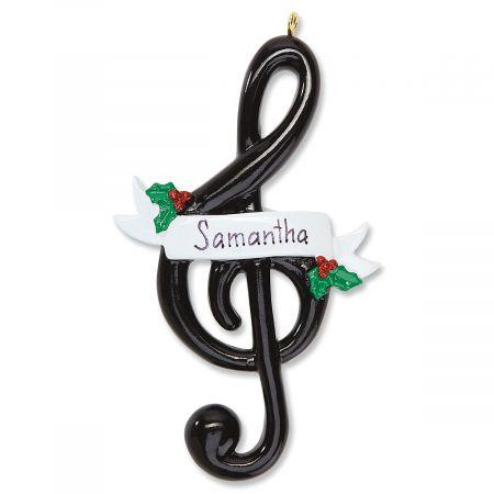 Personalized Treble Clef Ornament