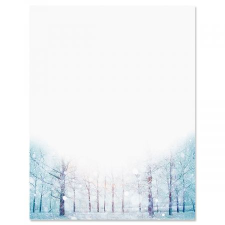 Winter Forest Christmas Letter Papers