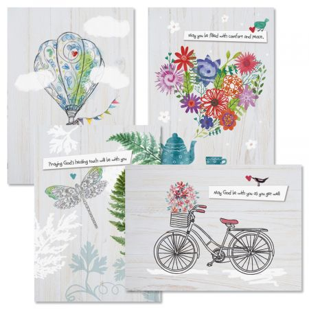 Faith Get Well Cards and Seals