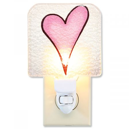 Glass Heart Night Light