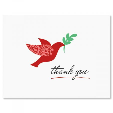 Cardinal Christmas Thank You Note Cards