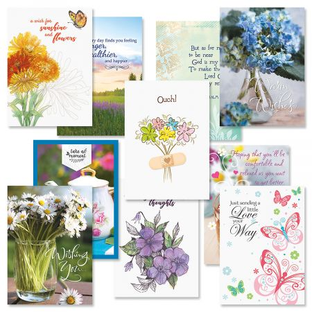Get Well Greeting Cards Value Pack