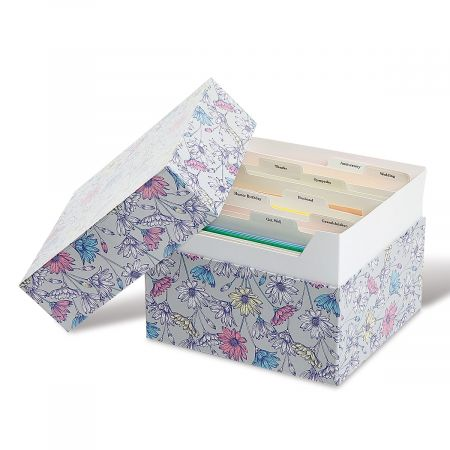 Daisies Greeting Card Organizer Box and Labels
