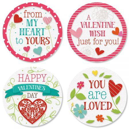 Faith Hearts & Blossoms Seals (4 Designs)