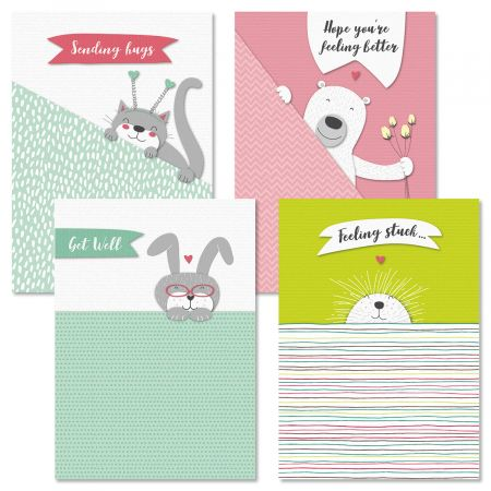 Peekover Get Well Cards and Seals