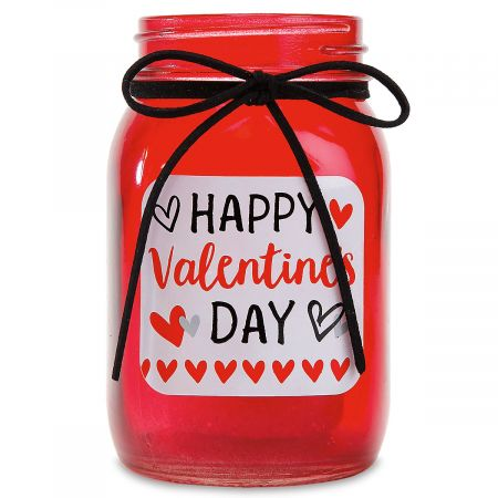 Pint Glass Valentines Candle Holder