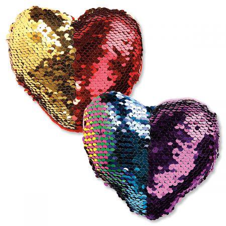 Flip Sequin Heart Plush