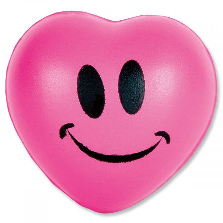 Mini Smiley Face Squeeze Hearts